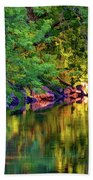 Evening On The Humber River - Paint Beach Towel