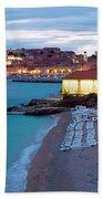 Evening Over Dubrovnik Beach Sheet