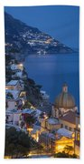 Evening Over Positano Beach Towel
