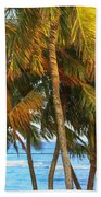 Evening Palms In Trade Winds Beach Towel