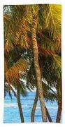 Evening Palms In Trade Winds Beach Sheet