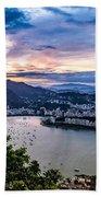 Evening Sky Over Rio De Janeiro Beach Towel