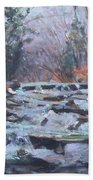 Evening Spillway Beach Towel