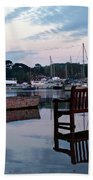 Evening Spring Tide In Mylor Bridge Beach Towel