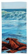Evening Waves Beach Towel