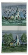 Evening Worship In Winter And Summer Beach Towel