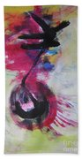 Everything A Mistake-abstract Red Painting Beach Sheet