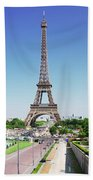 Eviffel Tower With Fountains Beach Towel