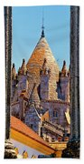 Evora's Cathedral Tower Beach Towel
