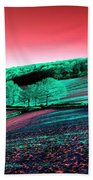Exmoor In The Pink Beach Towel