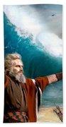 Exodus Moses And Pharaoh  Of Egypt Beach Towel