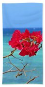 Exotic Flower Beach Towel