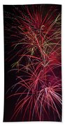Exploding Festive Fireworks Beach Towel