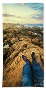 Exploring The Beaches Of Western Tasmania Beach Towel