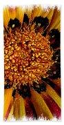 Explosion Of Color - Framed Beach Towel