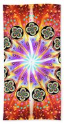 Explosion Of Emotions Beach Towel
