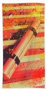 Explosive Comic Art Beach Towel