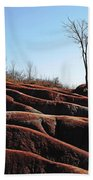 Exposed And Eroded Badlands Beach Towel