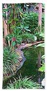 Expressionalism Beautiful Garden  Beach Towel