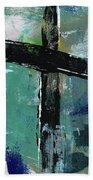 Expressionist Cross 8- Art By Linda Woods Beach Towel