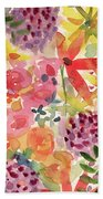 Expressionist Fall Garden- Art By Linda Woods Beach Towel