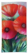 Expressionist Poppies Beach Towel