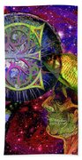 Extraterrestrial Fish In The Sea Beach Towel by Joseph Mosley