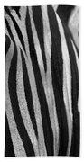 Extreme Close Up Of A Zebra Beach Towel