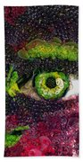 Eye And Butterflly Vegged Out Beach Towel