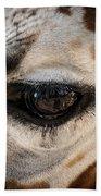 Eye Of The Giraffe Beach Towel