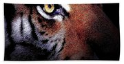 Eye Of The Tiger Beach Towel