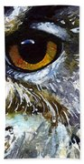 Eyes Of Owls No.25 Beach Towel