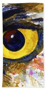Eyes Of Owl's No.6 Beach Towel