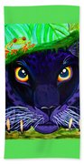 Eyes Of The Rainforest Beach Towel