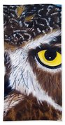 Eyes Of Wisdom Beach Towel