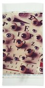 Eyes On Eye Chart Beach Towel
