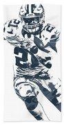 Ezekiel Elliott Dallas Cowboys Pixel Art 3 Beach Towel