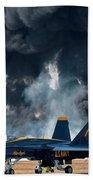 F/a -18 Super Hornet, U S Navy Blue Angeles Beach Towel