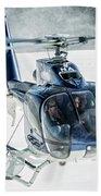 F-hana Eurocopter Ec-130 Helicopter Landing Beach Towel