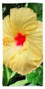 F12 Yellow Hibiscus Beach Towel