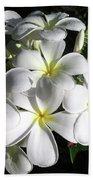 F13-plumeria Flowers Beach Sheet