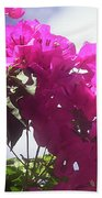 F15 Bougainvilleas Flowers Beach Sheet