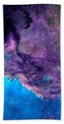 Purple Nebula Beach Towel