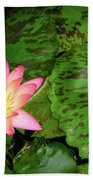 F6 Water Lily Beach Towel