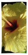 F9 Yellow Hibiscus Beach Towel