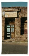 Facade American Pool Hall Coca-cola Sign Ghost Town Jerome Arizona 1968 Beach Towel