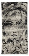 Face In The Storm Beach Towel
