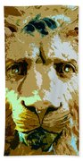Face Of The Lion Beach Towel