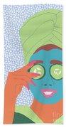 Facial Masque Beach Towel