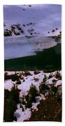 Facinating American Landscape   Snow Mountains Mini Lakes Winter Storms Welcome Trips To Nature Beach Towel